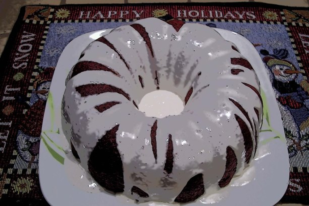 It is so much easier to prepare holiday meals in a clean and orderly kitchen.  I couldn't resist whipping up this Red Devil cake!