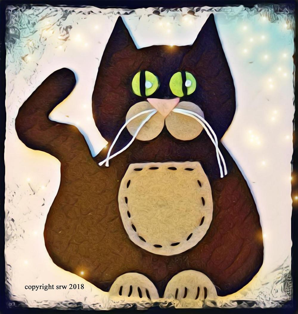 Silver RavenWolf Black Cat Pattern