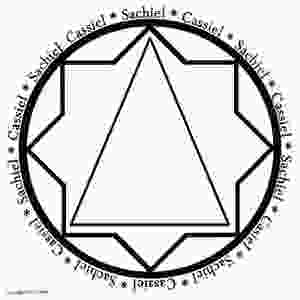 Blank sigil for working with Jupiter (Cassiel) and Saturn (Sachiel).