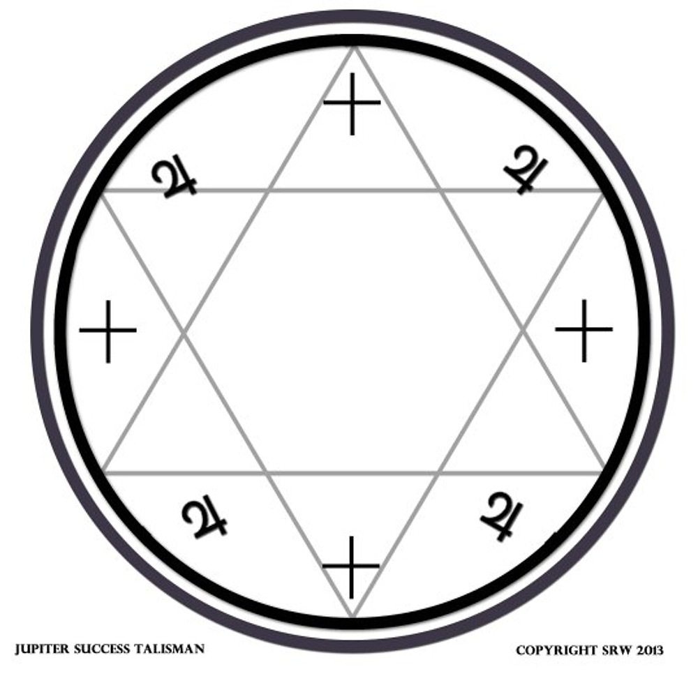 Sigil designed for Jupiter workings.