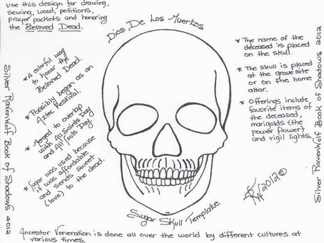 Magick Notes — Dios De Los Muertos Sugar Skull Template