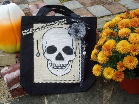 Free Sugar Skull Cross Stitch Pattern or Harvest Crows for Your Holiday Flair!