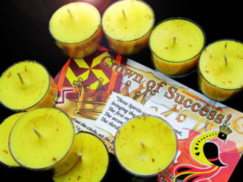 Golden Crown of Success Soy Tea Candles
