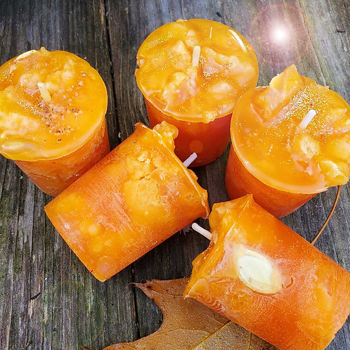 Pumpkin Soufflé Abundance Votives - Set of 3