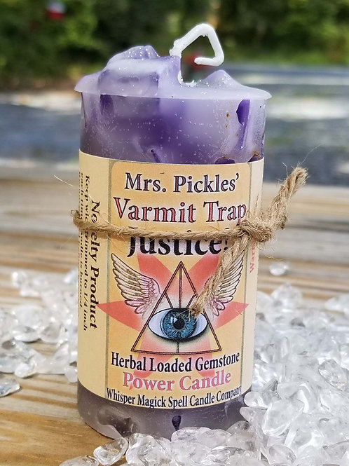 Varmit Trap Justice Herbal Loaded Gemstone Candle