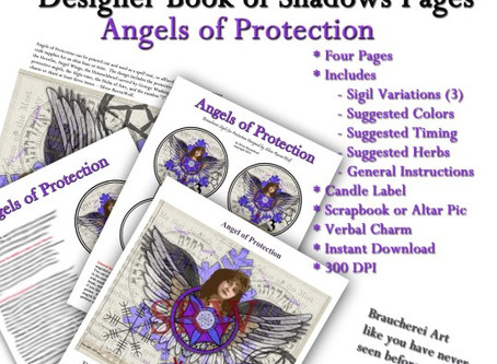 Angels of Protection Book of Shadows Pages