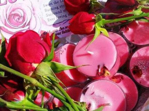 Loving Rose Soy Tea Candles