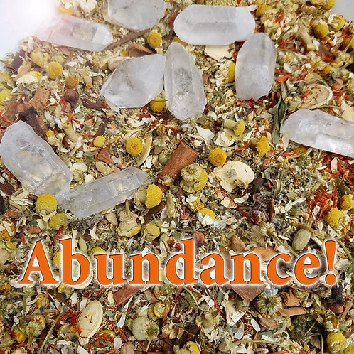 Abundance! Herbal Blend and Crystal Gemstone