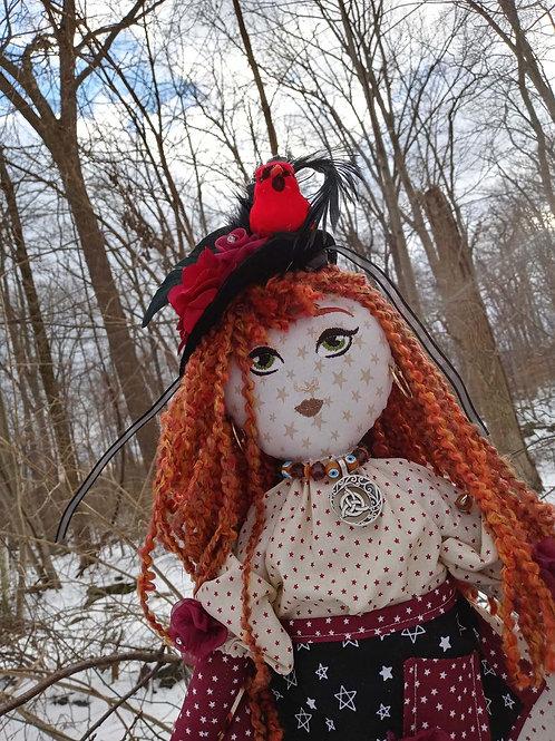 Big Red Rag Doll - Born on Winter Solstice
