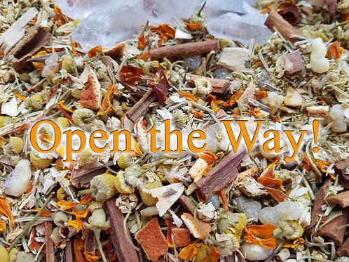 Open the Way! Herbal Blend and Crystal Gemstone