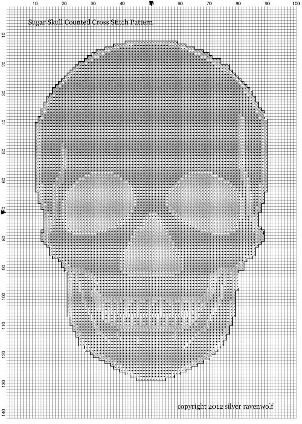 Silver RavenWolf Sugar Skull