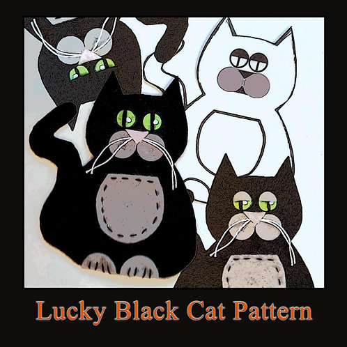 Lucky Black Cat Pattern