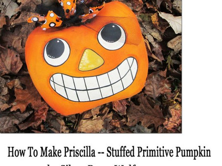 How To Make A Grunged Primitive Stuffed Pumpkin by Silver RavenWolf