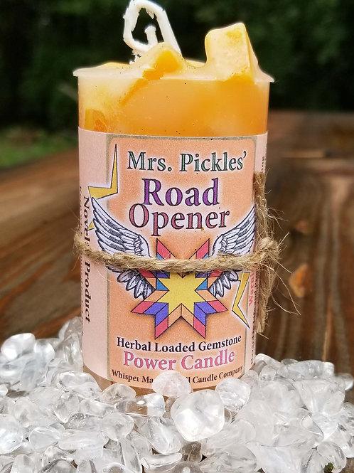 Road Opener Herbal Loaded Gemstone Candle