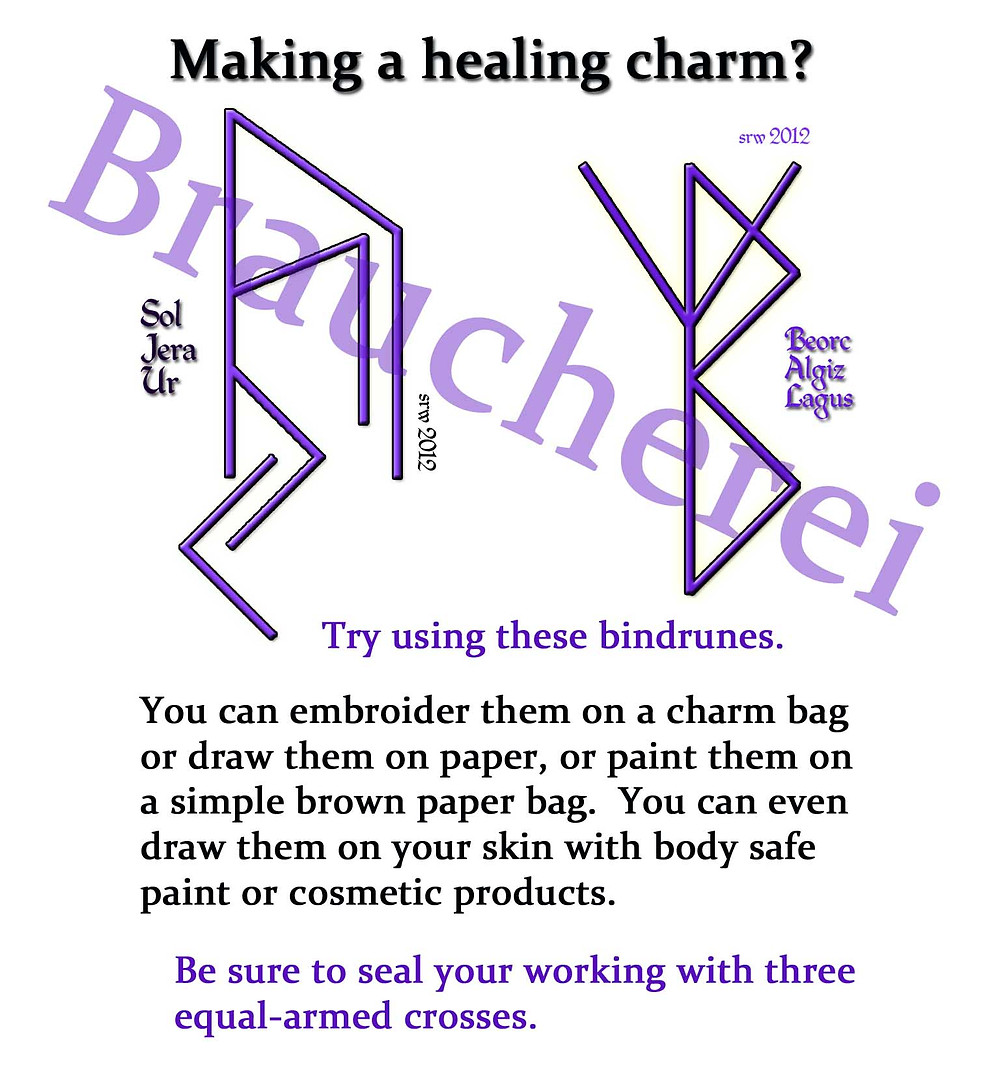 Magick Notes -- Healing Bind Runes