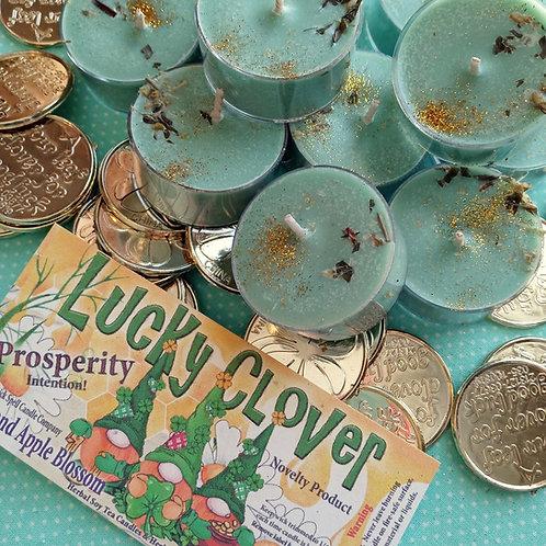 Lucky Clover & Apple Blossom Tea Candles