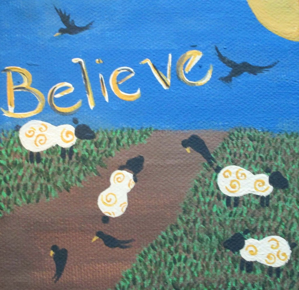 Is is your journey.  Believe! Painting by Falynn Trayer.