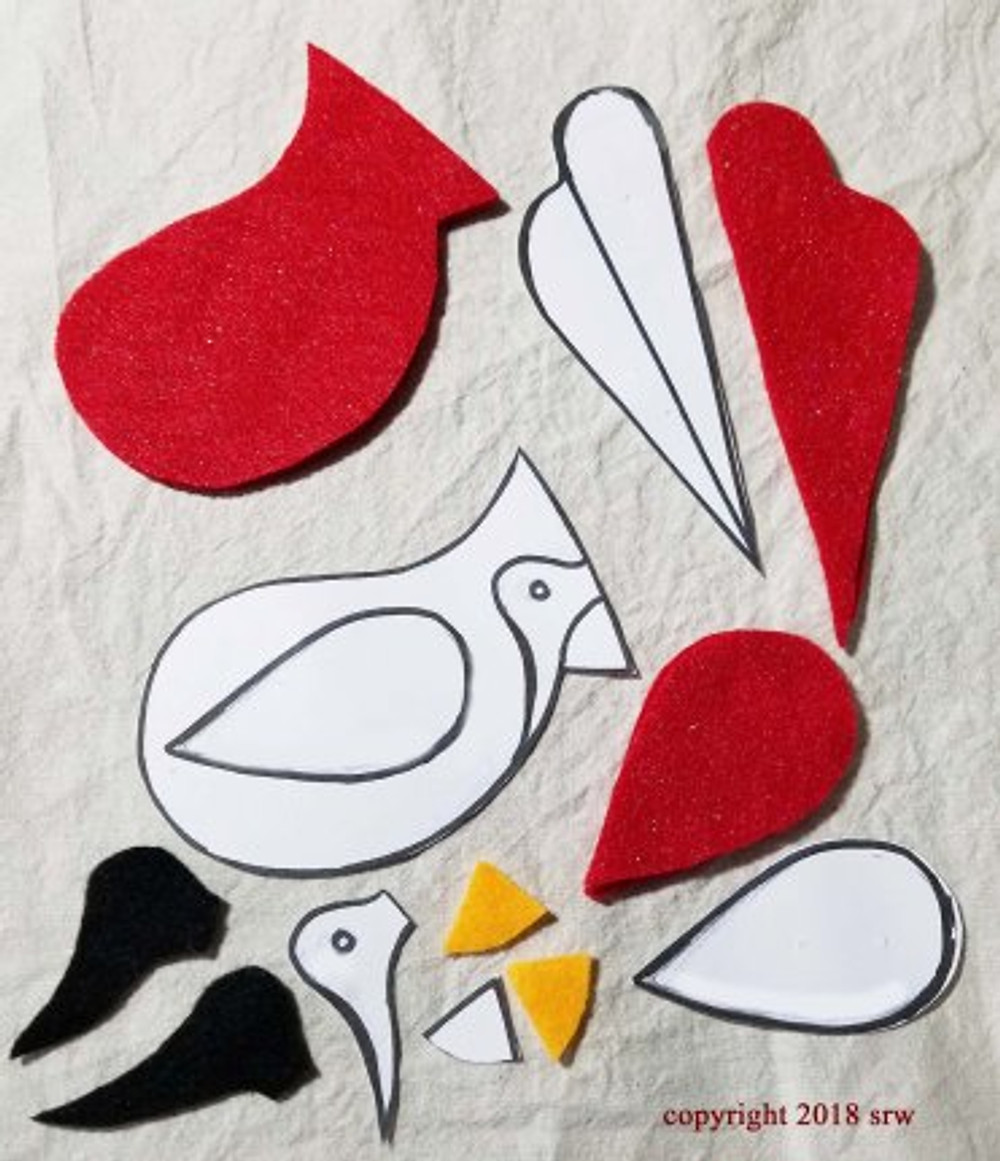 Silver RavenWolf Cardinal Bird Pattern