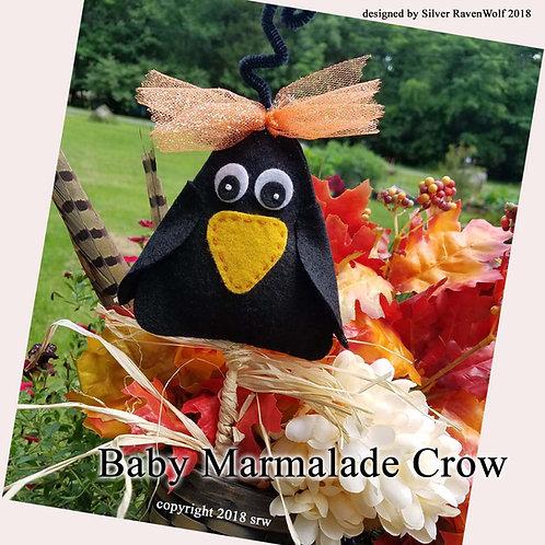 Baby Crow Marmalade Spirit Animal Pattern