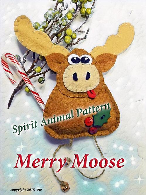 Merry Moose Animal Spirit Pattern