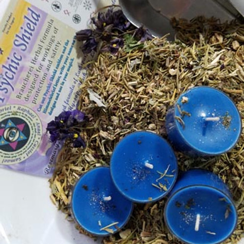 Psychic Protection Candle Herb Set