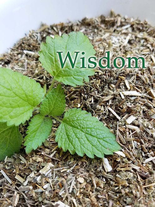 Wisdom Herbal Blend and Crystal