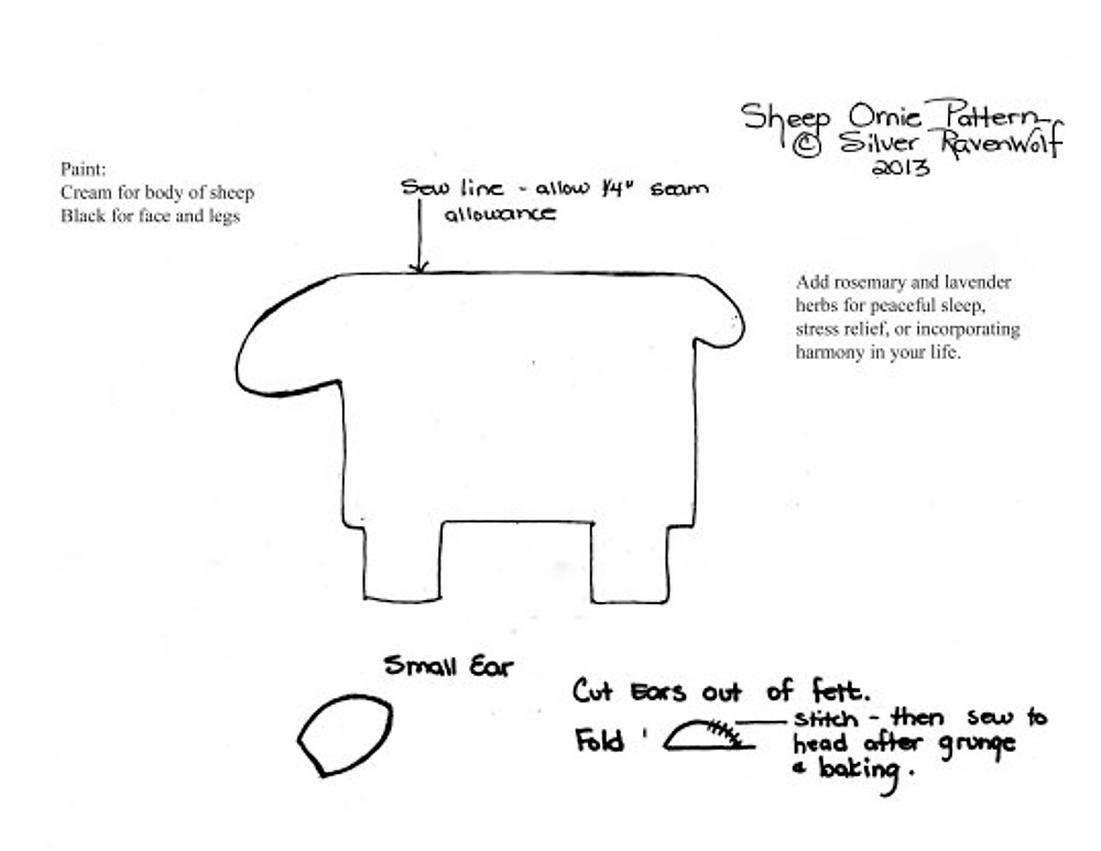 Sheep Ornie Pattern by Silver RavenWolf copyright 2013