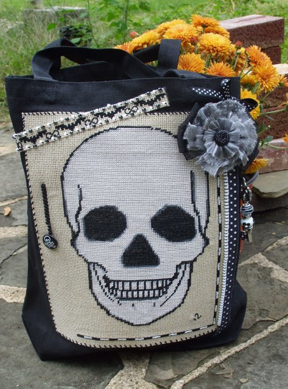 silverravenwolf sugar skull bag