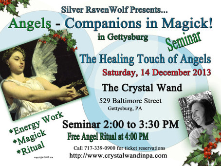 Silver RavenWolf at Crystal Wand in Gettysburg on 14 December 2013