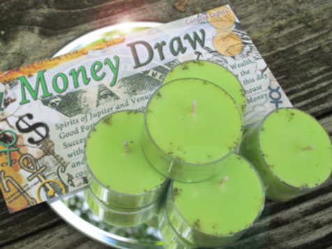 Money Draw Soy Tea Candles