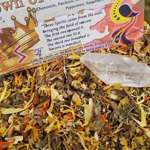 Crown of Success Herbal Blend and Crystal Gemstone