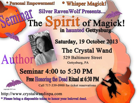 Silver at the Crystal Wand this Weekend! October 19, 2013
