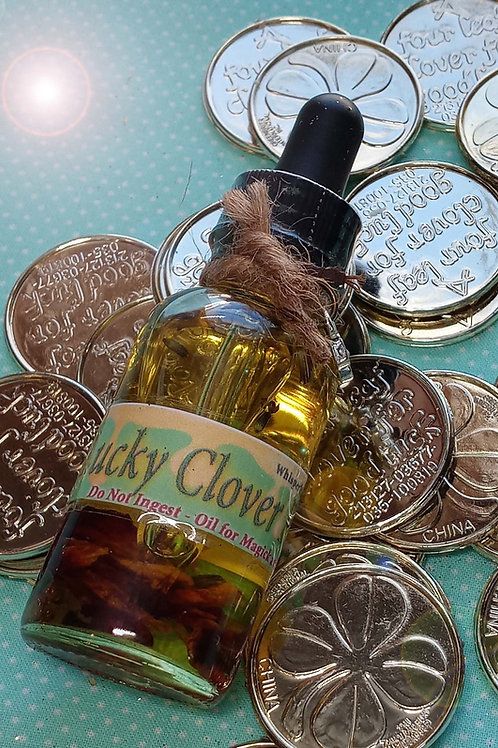 Lucky Clover Good Fortune Prosperity Magickal Oil