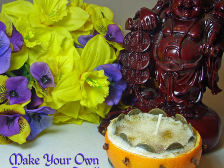 How To Make a Prosperity Candle out of a Fresh Orange Shell