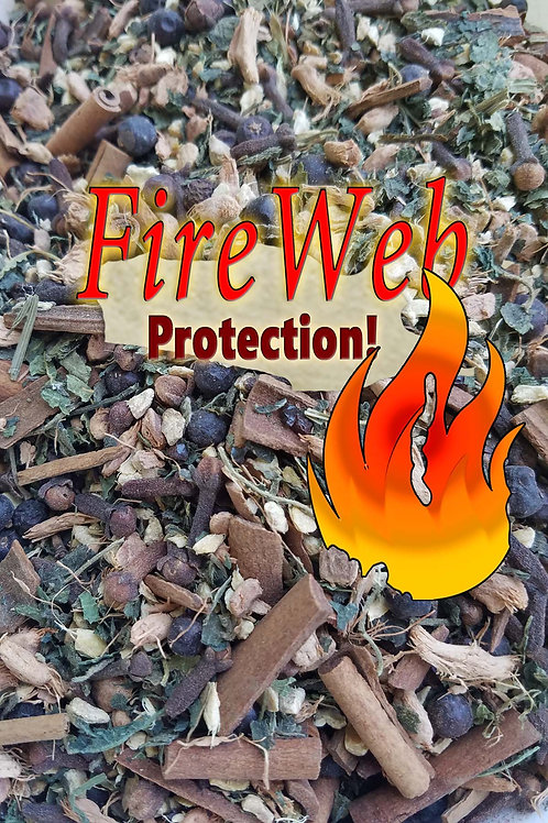FireWeb Protection Herbal Blend and Crystal