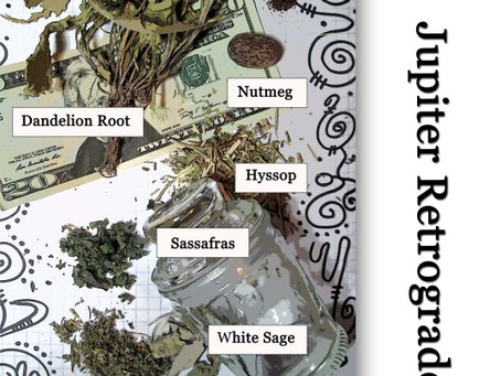 Jupiter Retrograde Spell Good Fortune, Protection Money Packet by Silver RavenWolf