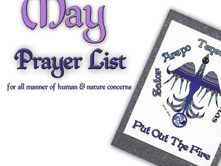 May 2012 Prayer List