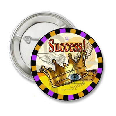 Crown of Success 1 5 Pinback Button