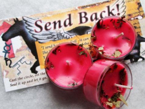 Send Back! Curse Reverse Soy Tea Candles