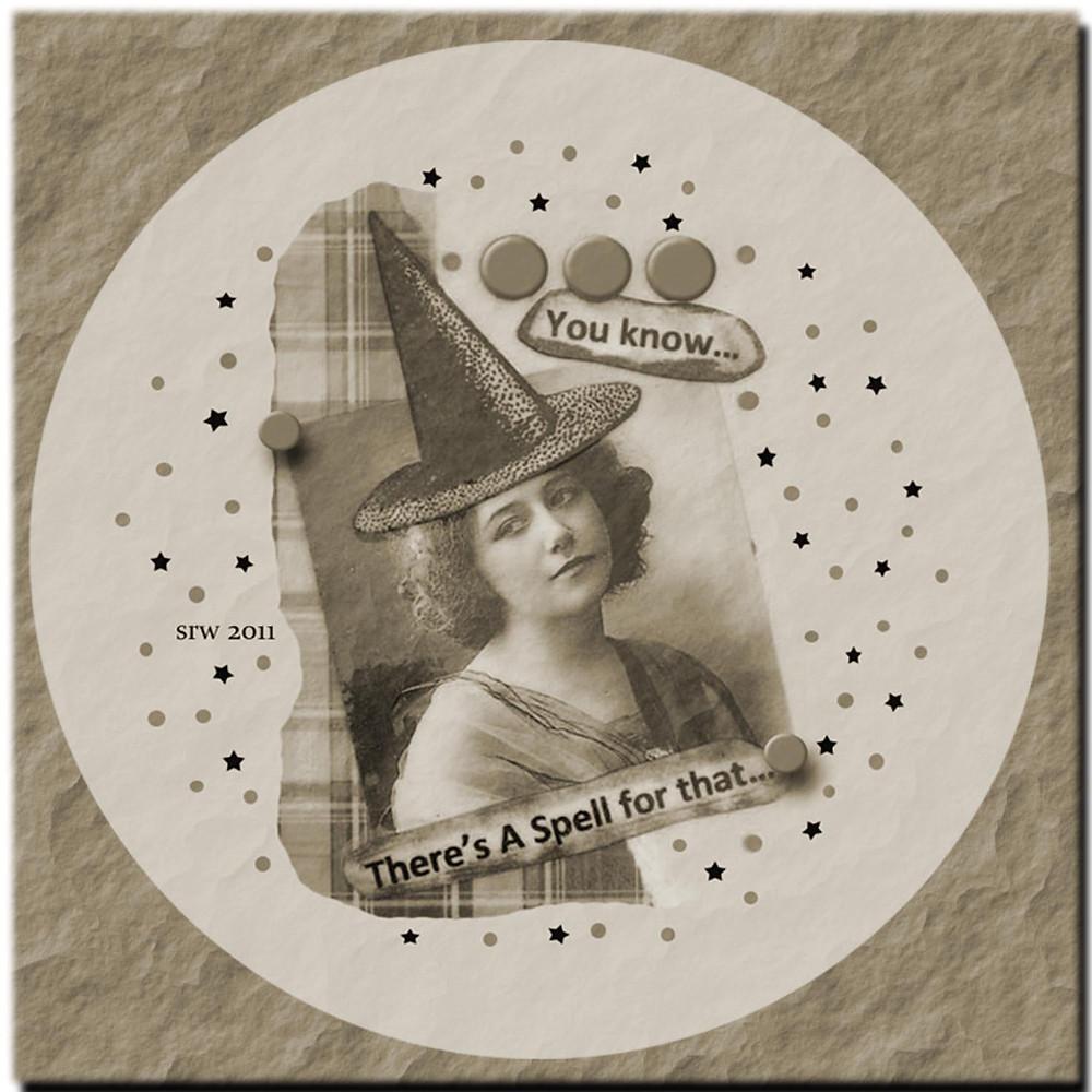 Silver RavenWolf Collage Image Vintage Witch