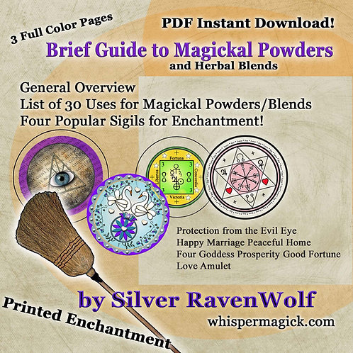 Basic Magickal Powder Guidelines Digital Download