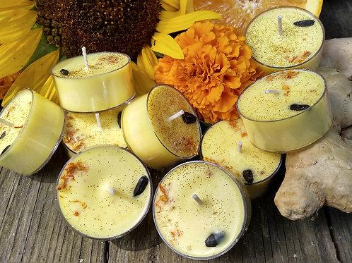 Sunflower Spritzer Tea Candles - 9