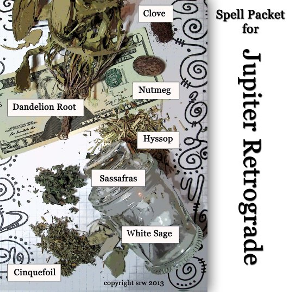 Seven Herbs in the Packet Go --to Protect Your Money when Jupiter's Slow
