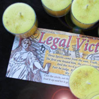 Legal Success/Victory Candle Herb Set