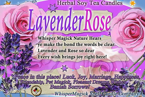Lavender Rose Soy Tea Candles