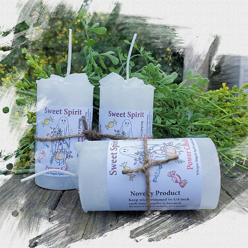 Sweet Spirits Herbal Gemstone Pillar Candle