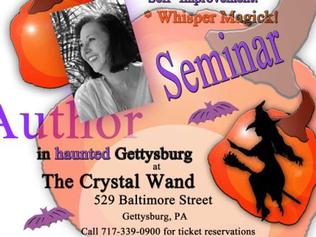 19 October 2013 See Silver at the Crystal Wand in Gettysburg