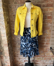 Tome Tailor yellow jacket/skirt and top