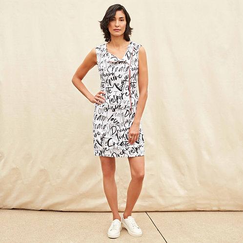Joseph Ribkoff White/Black Print Dress