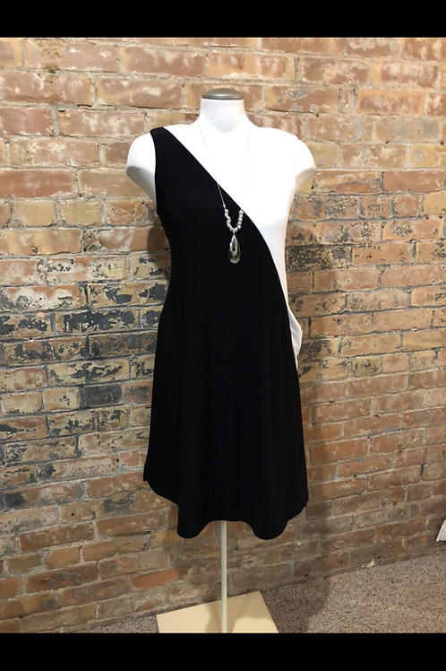 Joseph Ribkoff Black and White Dress